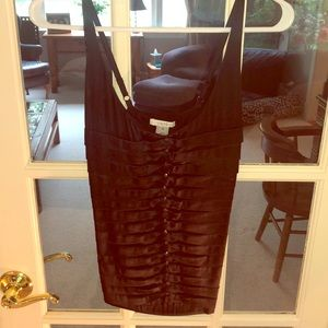 Black silk tank top with beads.